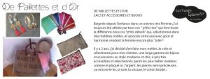 #lesartyfilles#amandinebouchaud#depaillettesetdor#créateur#vente#association#