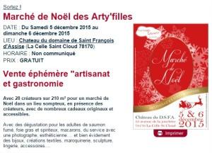 Marché de Noël des Arty'filles - Chateau du domaine de Saint François d'Assise, La Celle Saint Cloud, 78170 - Sortir à Paris - Le