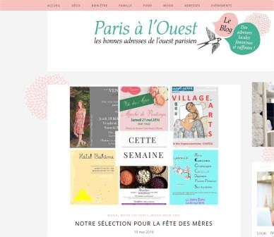 Paris à l'Ouest Notre sélection pour la Fête des Mères - Google Chrome