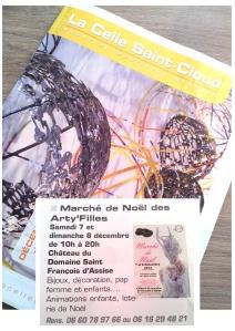 Article les Arty'filles dans le Journal mensuel du mois de décembre 2013 de la Celle Saint Cloud