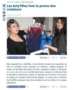#leparisien#mai2014#lesartyfilles#amandinebouchaud#presse#article#